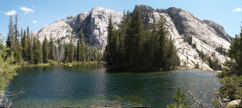 The pool at the lower end of Glen Aulin, just above California Falls, on the Tuolumne River