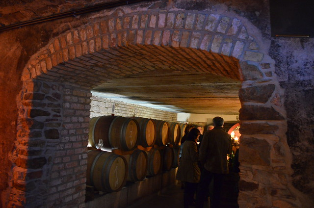 Trenz wine barrel room