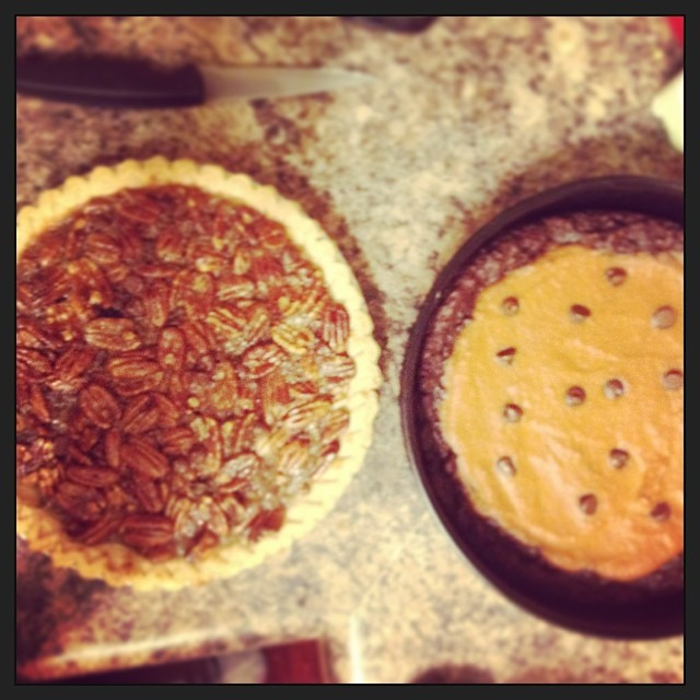 2 pies for 2 family gatherings. Wishing you sweetness & love today!