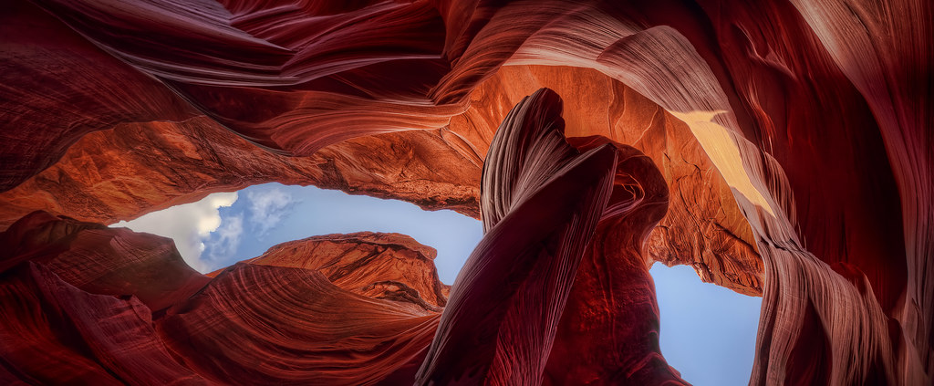 'Skyview Panoramic' ~ Lower Antelope Canyon, AZ