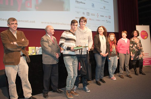 Guanyadors al Premi de Millor Guió amb un booktrailer sobre Momo de Michael Ende. Crèdit foto: Bookmovies.tv.