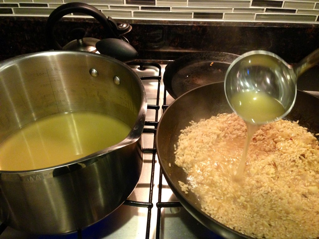 Making risotto 2