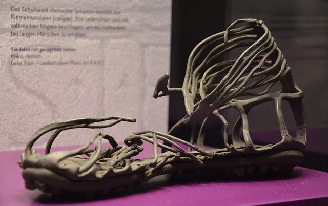 Caliga, Roman soldier's sandal from the 1st Century AD, Landesmuseum, Mainz