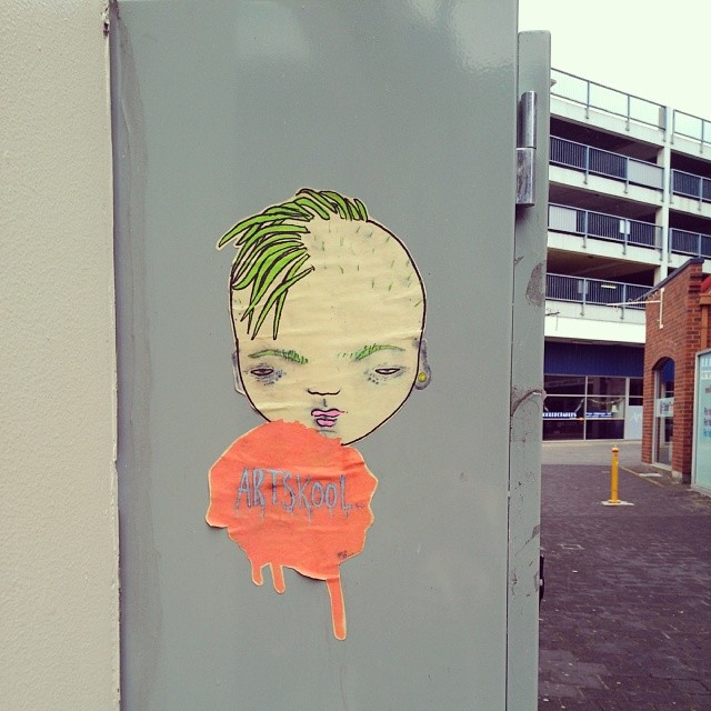 A cute #Launceston paste-up.