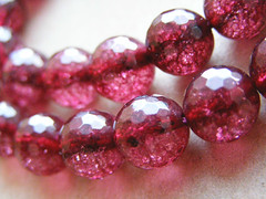 Crystal cherry. Crackle. Bowl faceting 1.2 cm