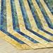 237_Navy Landscape Batik Gold Placemat_b