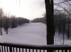 Gaylord back deck in winter