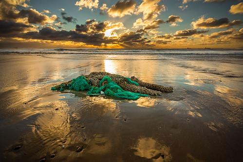 storm net beach water clouds sunrise denmark windy skagen fishingnet ef1740mml canon6d fromyoutous bentvelling