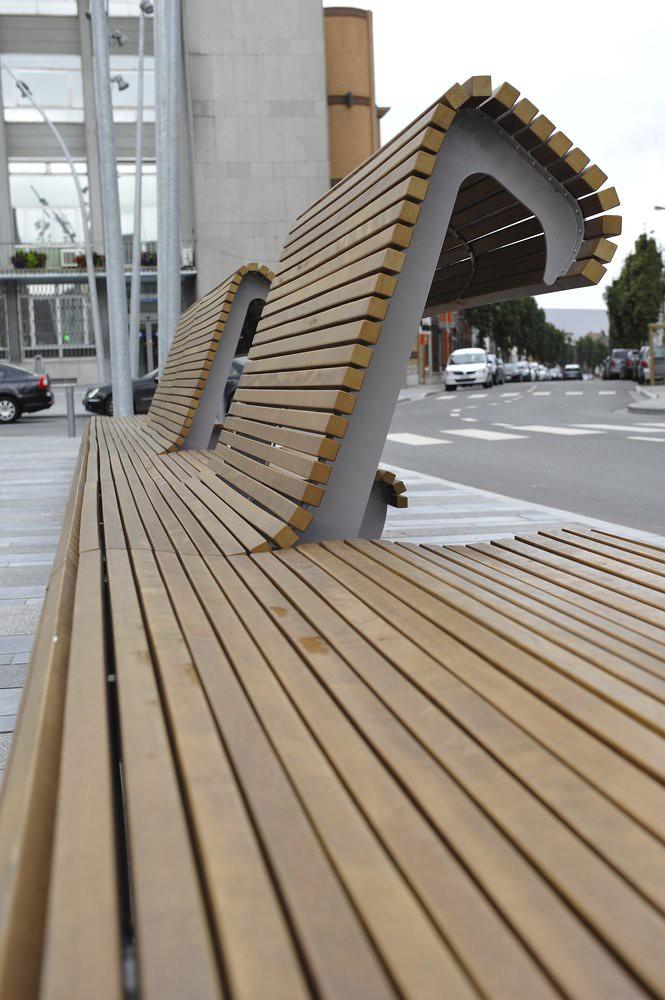 Mobilier urbain bois ludicite - Mobilier urbain banc bois ...