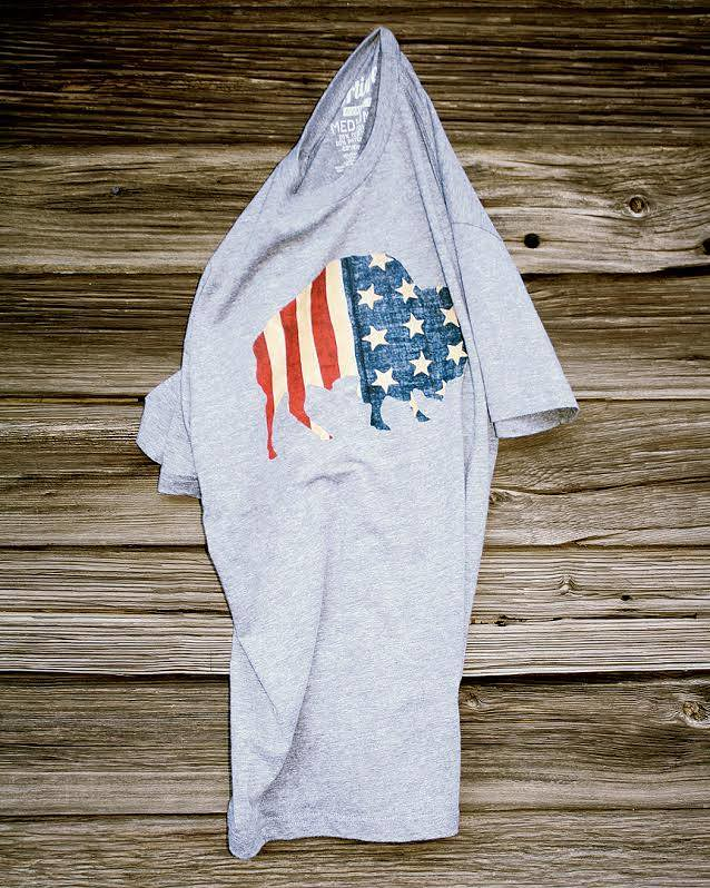Sportiqe Vintage American Flag T-shirt For Men