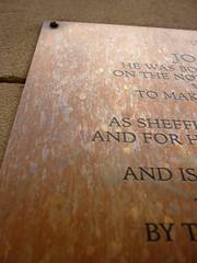 Photo of Joseph Hunter plaque