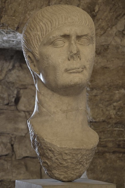 Head of Trajan, from the Cryptoporticus of Aeminium, Coimbra, Portugal