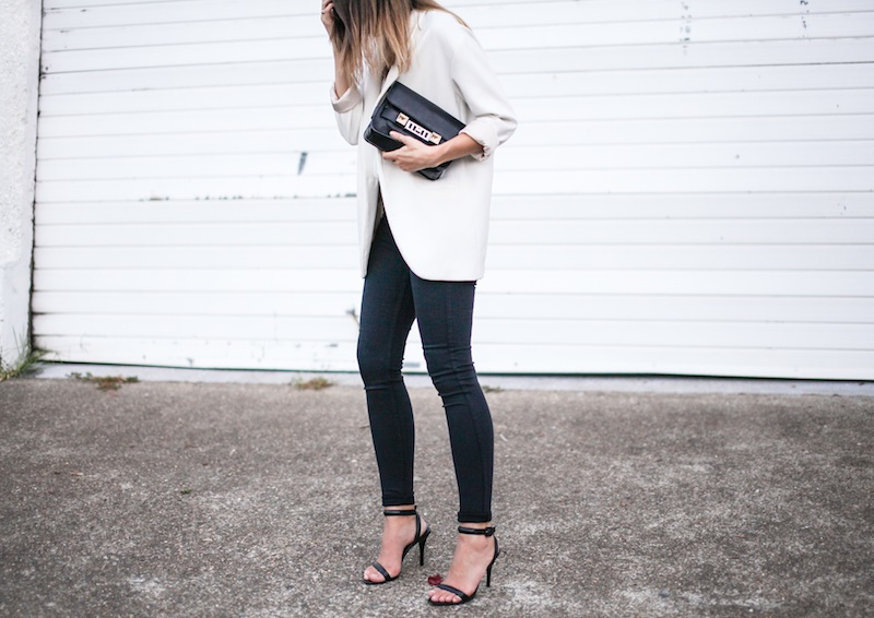modern legacy australian fashion blog giveaway David Jones denim Lee jeans Proenza Schouler PS11 Zara boyfriend blazer Alexander Wang Antonia heels Camilla and Marc Zoya Cami monochrome white on white (13 of 14)