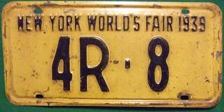 NEY YORK 1939 ---WORLD'S FAIR LOW NUMBER