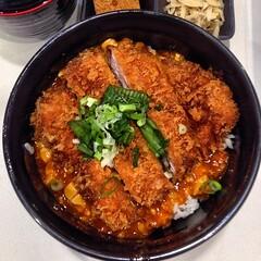 tonkatsu, fried food, katsudon, meat, food, dish, cuisine, donburi,