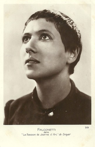 Renée Falconetti in La Passion de Jeanne d'Arc