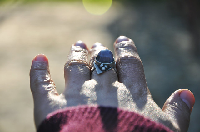 sterling silver and crimean agate ring