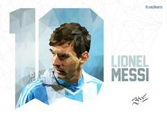 Lionel Messi Poly Portrait