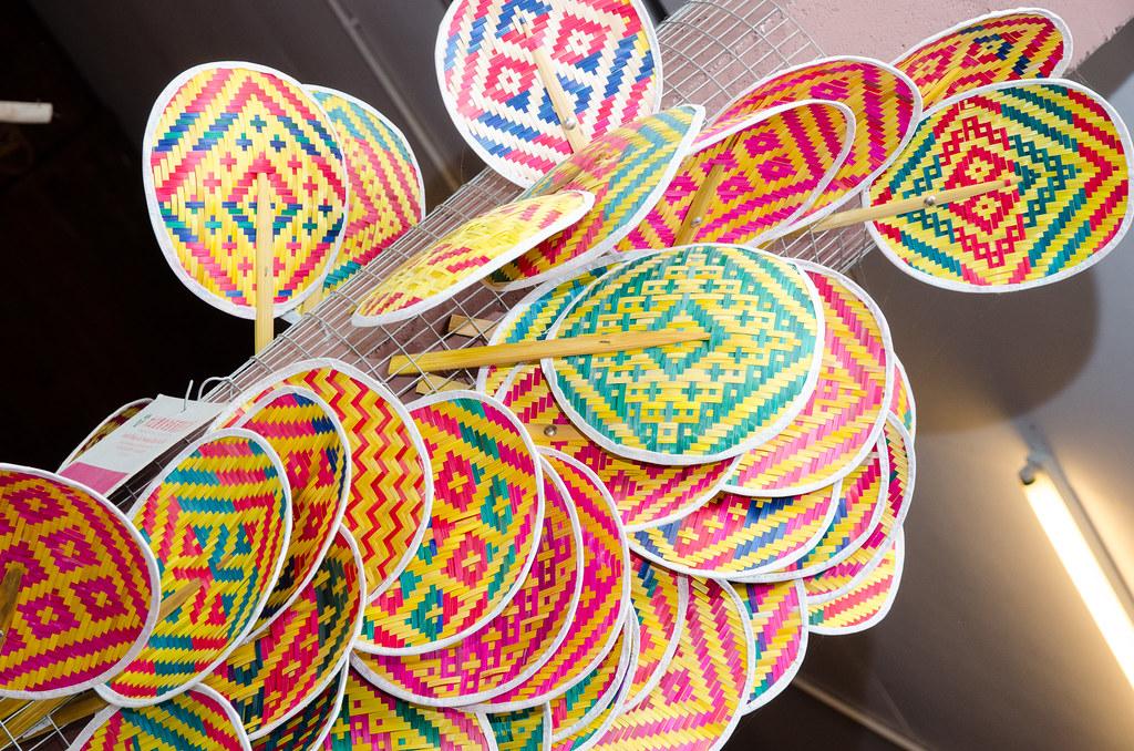 Handmade fan at Ah Ma House 阿嬤的家