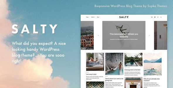 Salty WordPress Theme free download