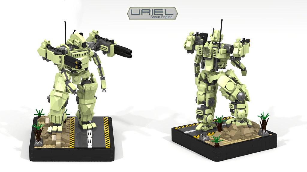 Uriel Scout Engine (custom built Lego model)