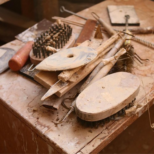 作陶の道具いろいろ。こういうのを見るとわくわくする。 #赤磐市