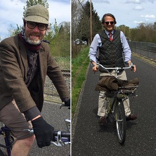 Dashing Joel and John @rivelo_pdx leading the way to the #tweedride #tweedpdx
