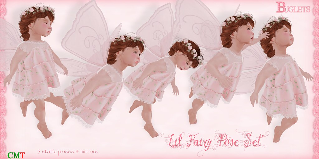 Lil Fairy Pose Set AD - SecondLifeHub.com