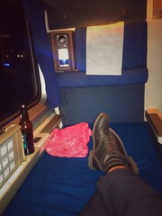 And ending this trip on a final note of luxury: The sleeping car! Yes, I cashed in my Amtrak Guest Rewards to get a roomette for the return trip. I get to sleep laying down! #amtrak #coaststarlight #sleepingcar #roomette #bayareatripmar2017