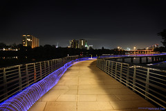 Bike trail on boardwalk