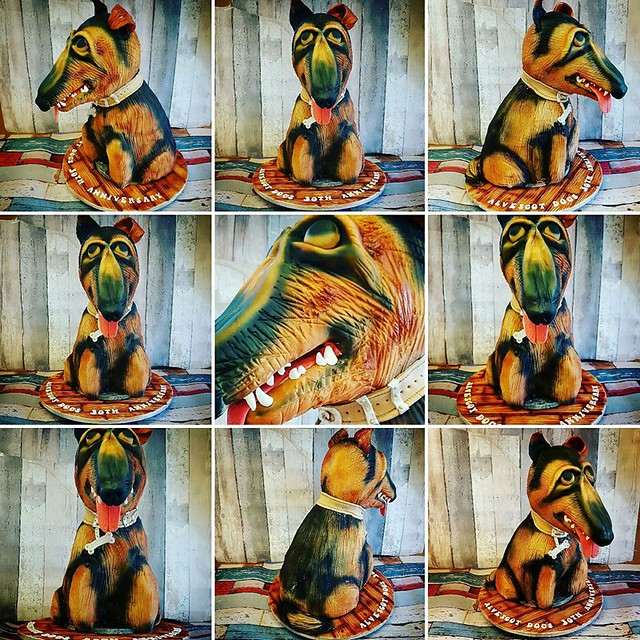 4 Feet 3D German Shepherd Cake by Martin Sherriff of Classical Cakes Oxford