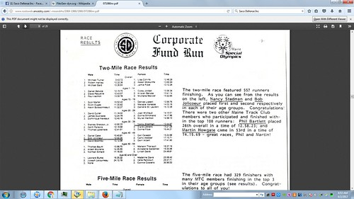1 June 1986 ~ 2 Mile Results