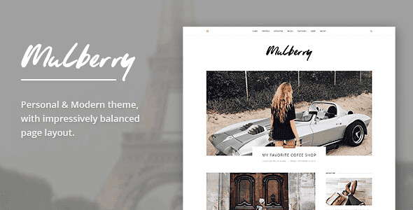 Mulberry WordPress Theme free download