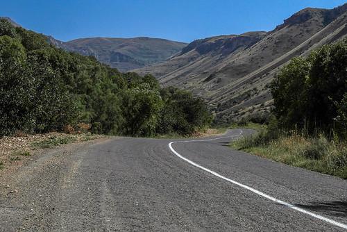 road armenia mountains countryside goris syunikprovince am