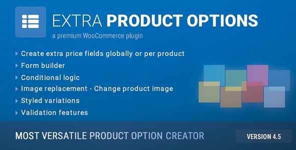 WooCommerce Extra Product Options free downlaod