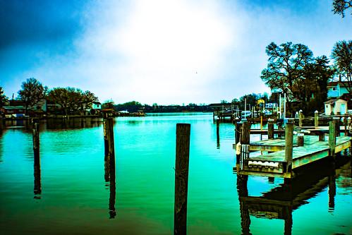 water river bay pier sky landscape color nikon nikkor d3400 april 2017 afpnikkor1855mm13556g maryland curtisbay outdoor outdoors outside spring
