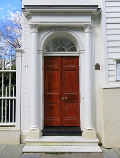 "The piazza screen (aka, the ""front door""), 15 Legare Street (c.1772), Charleston, SC"