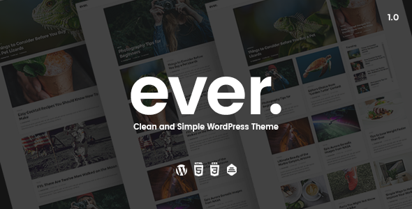 Ever v1.0.5 - Clean and Simple WordPress Theme