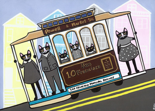san francisco trolley cats by Kilkennycat