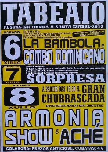 Carral 2013 - Festas de Santa Isabel en Tabeaio - cartel
