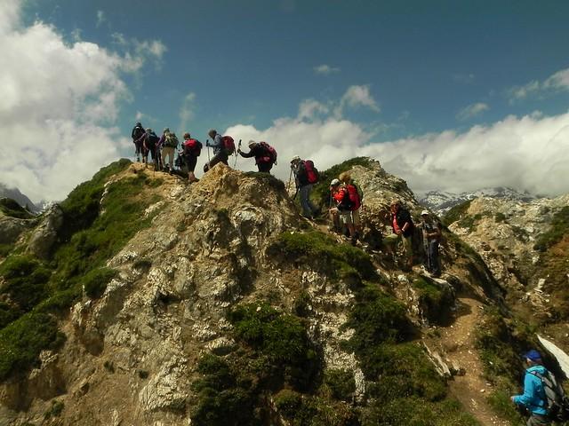 Sur le sentier des crêtes Dent du Villard (5)