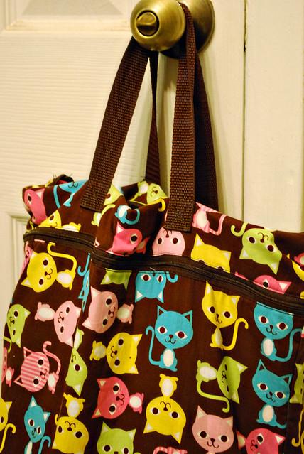 Cat-print wet bag!