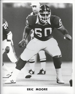 Eric Moore in his days as a New York Giant.