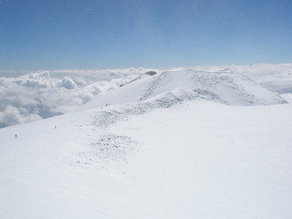 Ridge below the West Summit of Mt.Elbrus