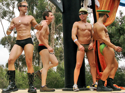 men dancing : san diego pride parade (2007)