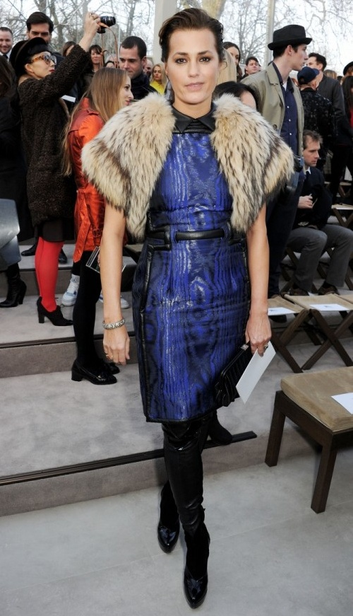 3 Yasmin Le Bon wearing Burberry at the Burberry Prorsum Womenswear Autumn Winter 2013 Show