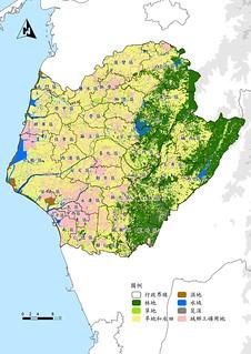 圖二、台南生態系統資源土地分布示意圖