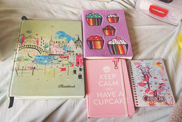Cadernos fofos