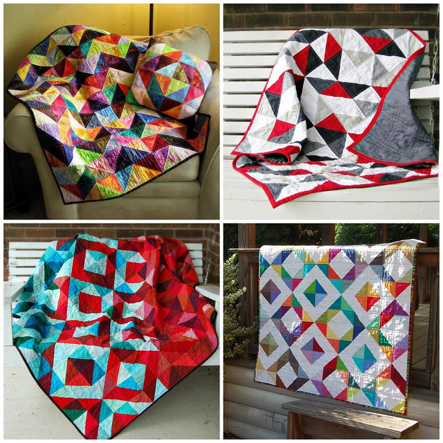 Half Square Triangle Quilts Collage