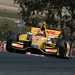 Ryan Hunter-Reay crests the Turn 2 hill during practice at Sonoma Raceway